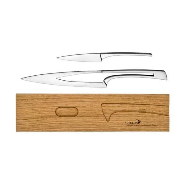Deux couteaux acier design