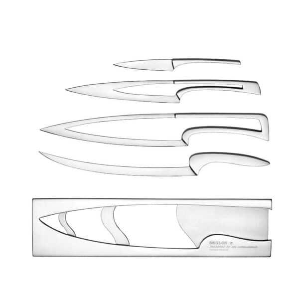 Quatre couteaux acier design