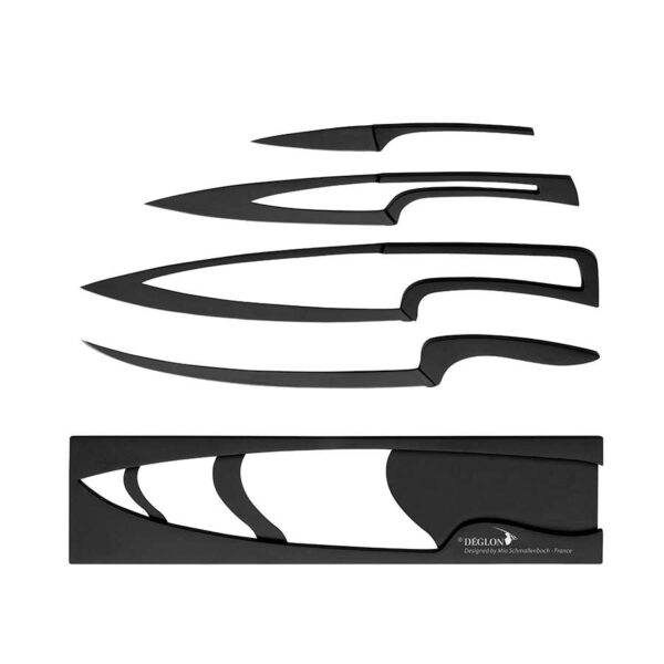 4 couteaux design noirs