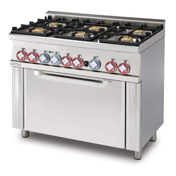 piano de cuisson professionnel 6 feux