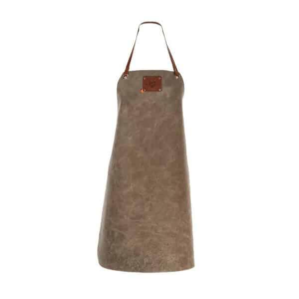 tablier cuir femme gris