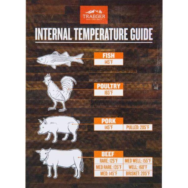 températures internes barbecue traeger