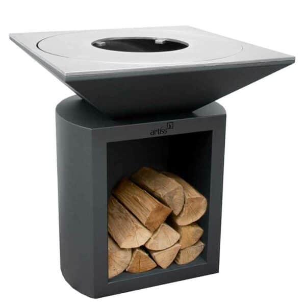 Brasero barbecue plancha G2 Artiss graphite plaque acier carbone