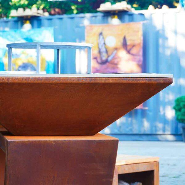 brasero Artiss sur terrasse